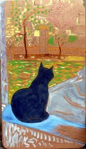 Chat par la fenêtre